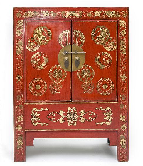 Armario chino rojo motivos dorados no disponible en - Armario de boda chino ...