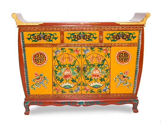 Aparador tibetano 2 puertas 3 cajones no disponible en for Muebles tibetanos