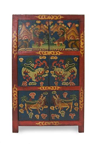 Armario tibetano 6 puertas ii no disponible en for Muebles tibetanos