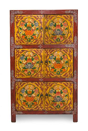 Armario tibetano 6 puertas no disponible en for Muebles tibetanos