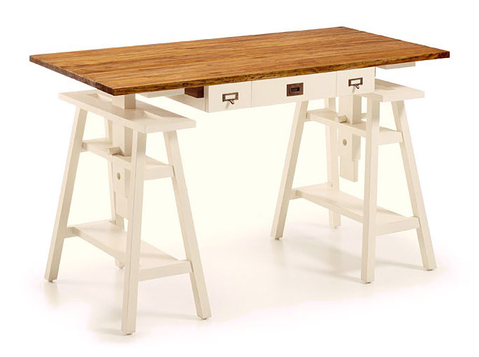 Mesa de escritorio colonial combinado 3 cajones jasmine no - Caballete de mesa ...