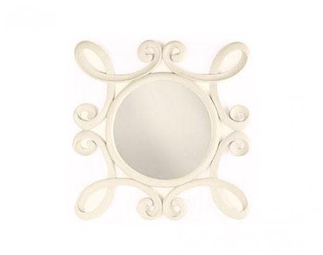 Espejo vintage jasmine no disponible en for Espejo ovalado blanco