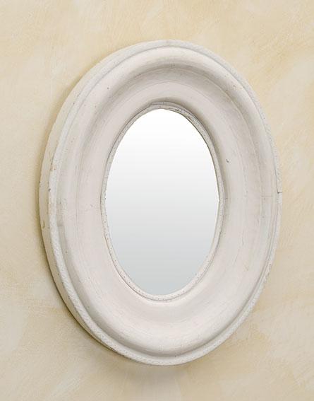 Espejo blanco maine ii no disponible en for Espejo ovalado blanco