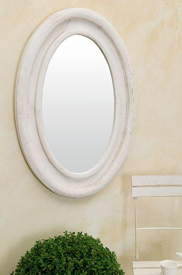 Espejo ovalado blanco maine ii no disponible en for Espejo ovalado blanco
