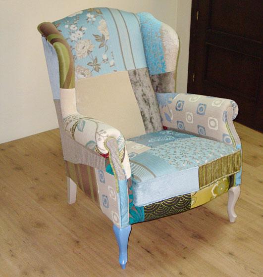Orejero patchwork turquesa en - Fundas de sofa modernas ...
