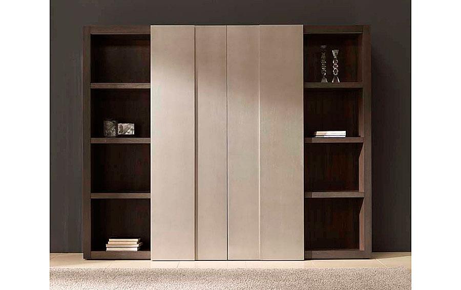Mueble de sal n puertas correderas moderna chambi en cosas for Estanterias con puertas correderas