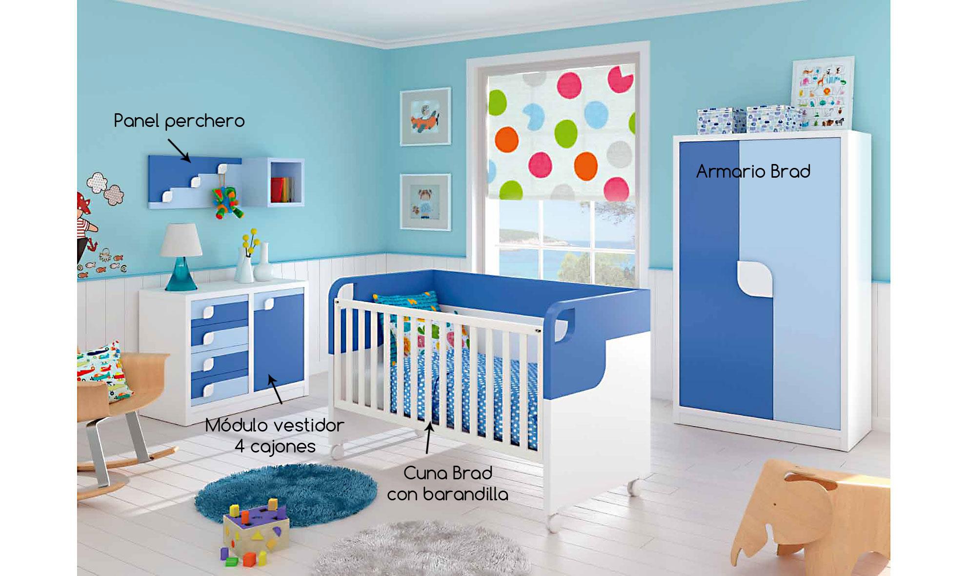 Dormitorio Brad para bebés en Portobellostreet.es
