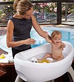 Bañera para bebe con hidromasaje y cromoterapia