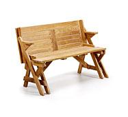 Banco Jardín Teka combertible en mesa - Bancos y Taburetes Jardín - Muebles de Jardín