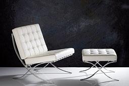 Butaca Grant piel blanca - Butacas de Diseño - Muebles de Diseño