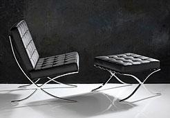 Butaca Grant piel negra - Butacas de Diseño - Muebles de Diseño