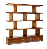 Librería Separador Irregular 3 Cajones - Librerías Coloniales y Rústicas - Muebles Coloniales y Muebles Rústicos