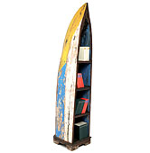 Librería barco balinés reciclado