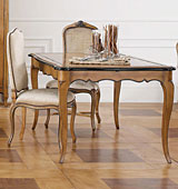Mesa de comedor extensible clásica Luis XV Nancy
