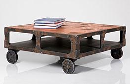 Mesa de centro Industrial Dirty Chic - Mesas de Centro Vintage - Muebles Vintage