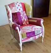 Orejero Patchwork Violeta - Butacas Vintage - Muebles Vintage