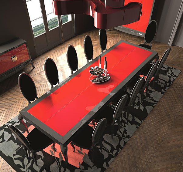 Mesa de comedor moderna planck en tu for Muebles eroticos