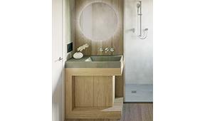 Mueble de baño microcemento Indo II