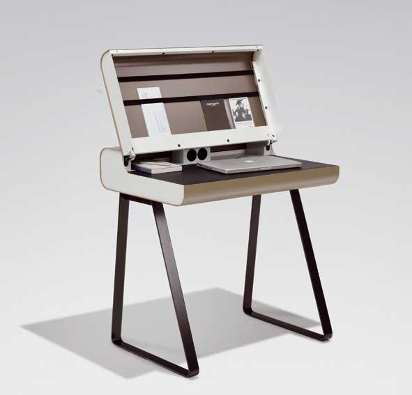 Mesa de escritorio moderno led en cosas de for Escritorio diseno