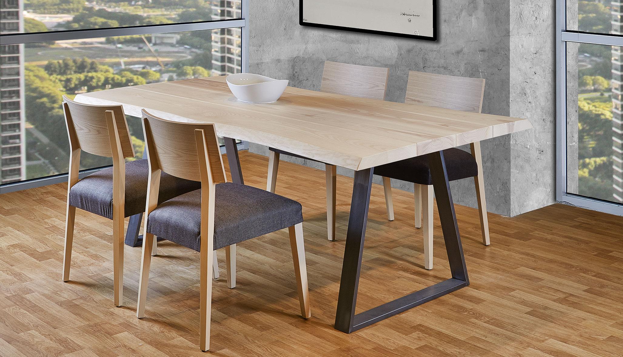 Mesa de comedor 240 madera maciza roble Juli en COSAS de ...