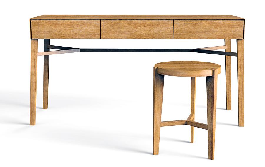 Escritorio nordik vintage con taburete en cosas de for Escritorio arquitecto