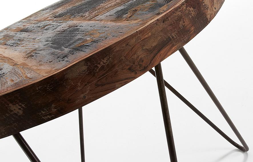 Mesa auxiliar redonda vintage afton en cosas de - Mesa redonda vintage ...