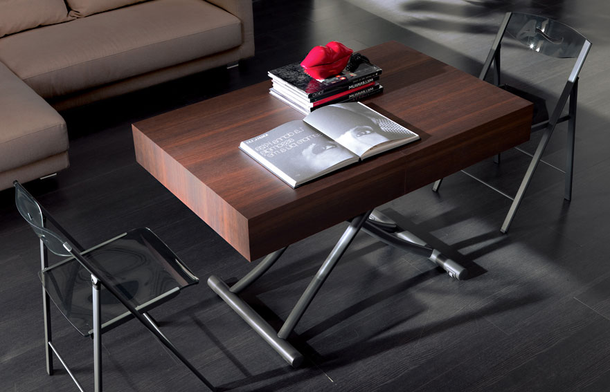 Mesa de centro convertible en mesa de comedor Moderna Box en ...