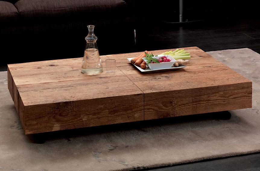 Mesa de centro convertible en mesa de comedor moderna box - Banco convertible en mesa ...