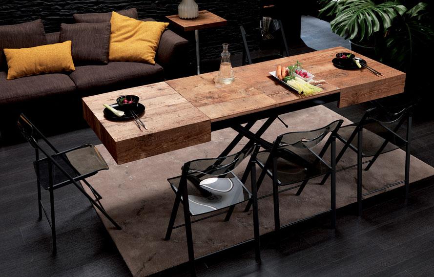 Mesa de centro convertible en mesa de comedor moderna box for Sillas italianas modernas