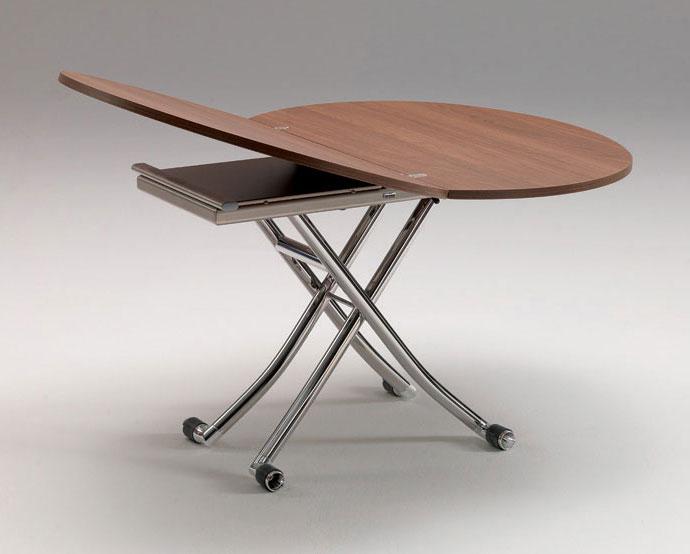 Mesa convertible a comedor moderna apple en cosas de - Mesa centro convertible ...