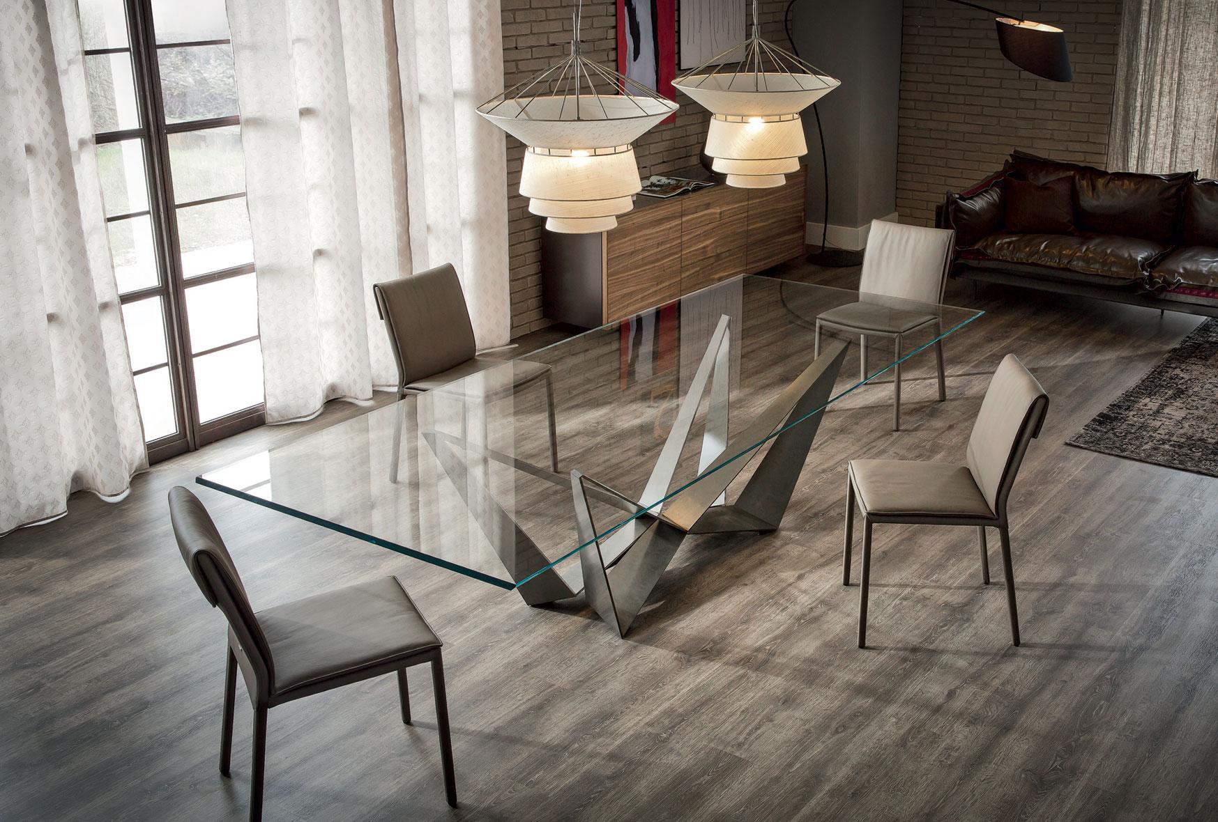 Mesa de comedor cristal Skorpio Cattelan en Portobellostreet.es