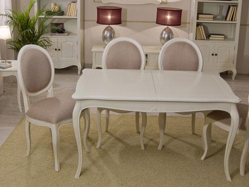Mesa de comedor extensible blanca vintage par s en cosas for Paris muebles comedor