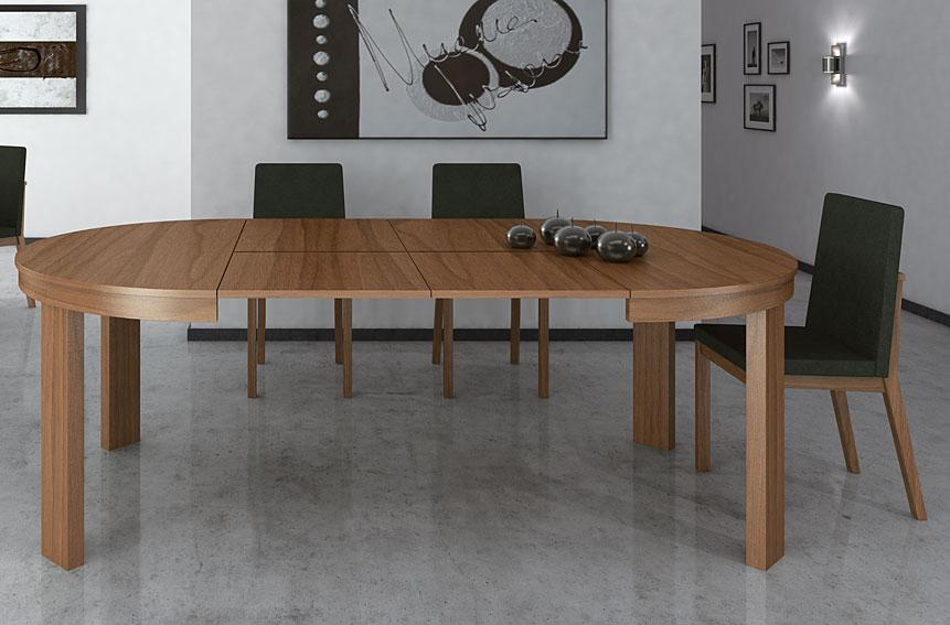 Mesa redonda extensible Moderna Julia