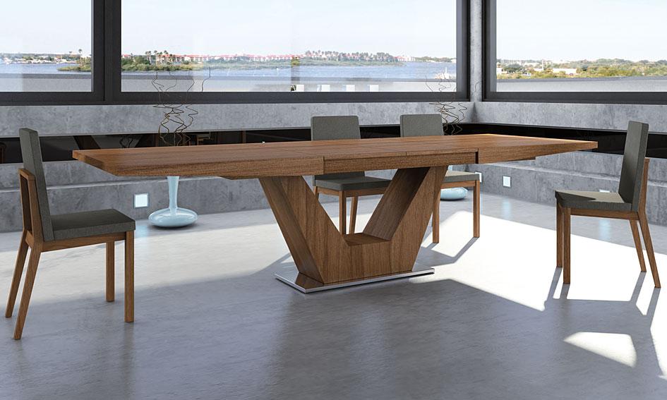 Mesa comedor extensible moderna verona en cosas de arquitectoscosas de arquitectos - Mesa comedor diseno ...