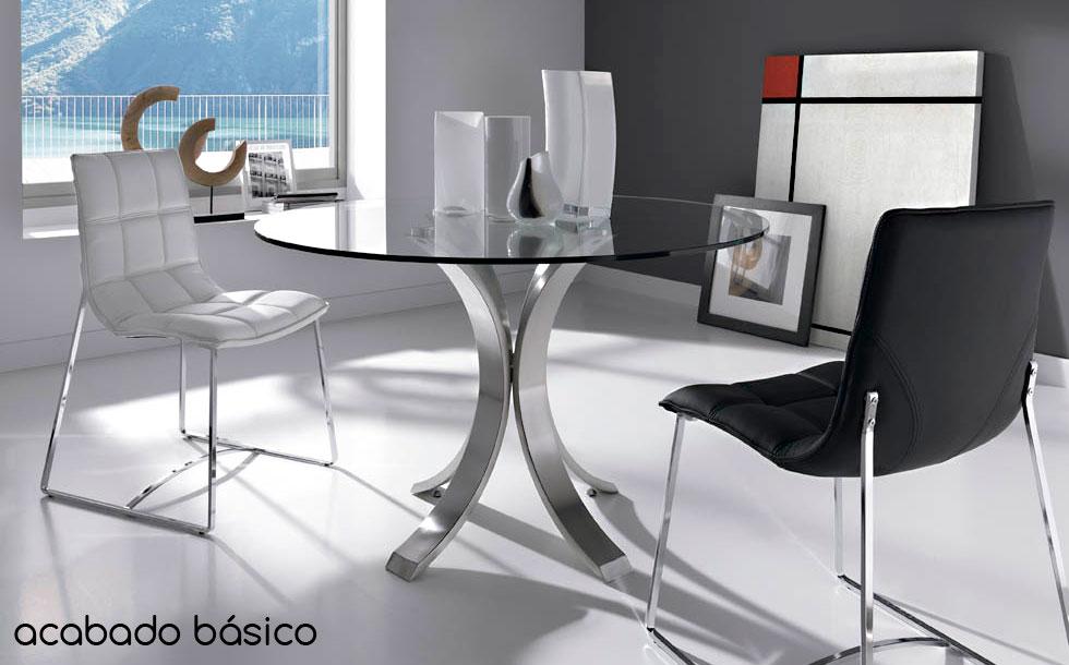 Mesa de comedor redonda moderna maddox en cosas de for Mesas redondas modernas comedor