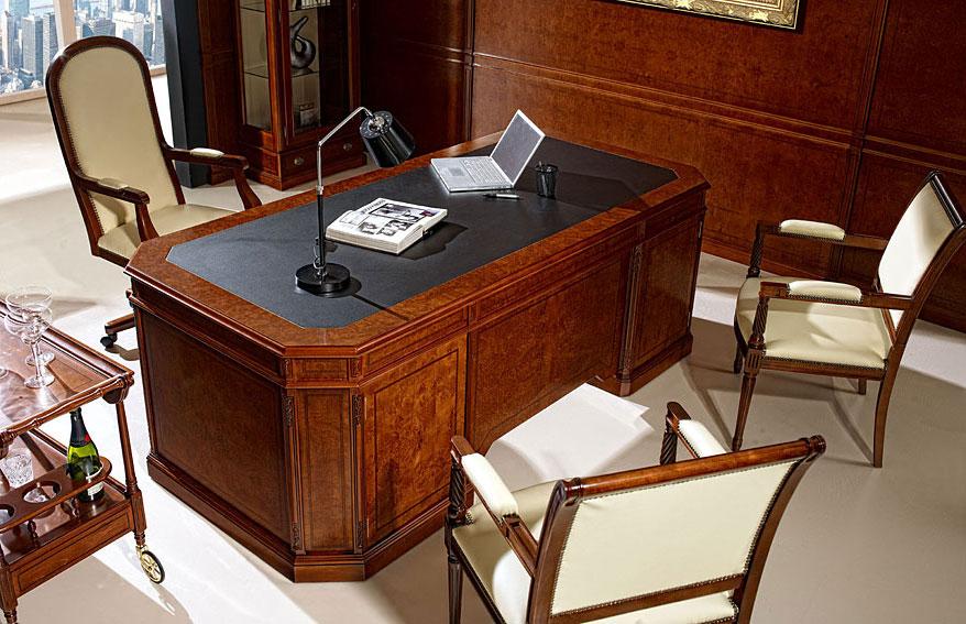 Mesa de despacho cl sica allepo en cosas de for Muebles de oficina clasicos
