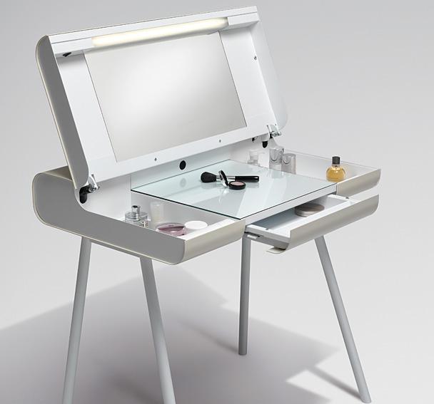 Mesa de escritorio tocador brass en cosas de for Mesas escritorio diseno