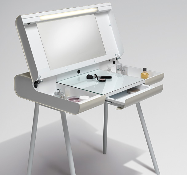 Mesa de escritorio tocador brass en cosas de for Muebles escritorio diseno