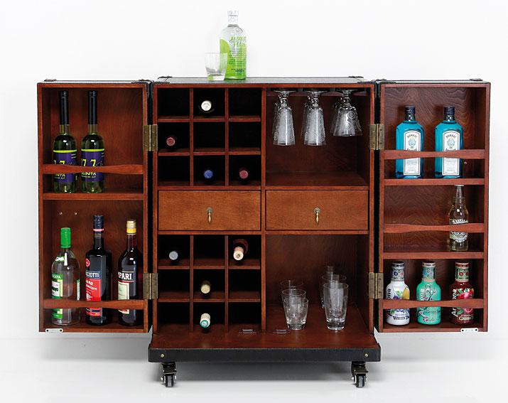 Mueble bar con ruedas vintage trunk en cosas de for Mueble bar exterior