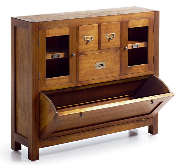 Mueble de entrada con zapatero colonial star en cosas de - Mueble para la entrada ...