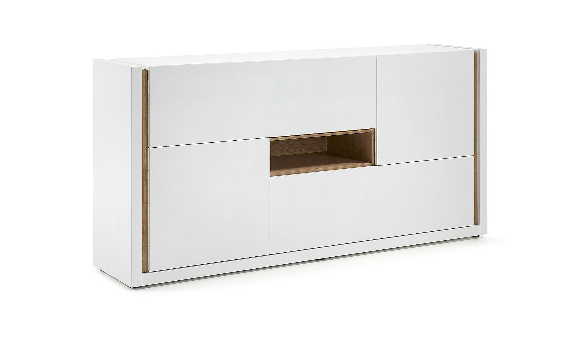 Aparador lacado mate blanco puro en for Mueble buffet moderno