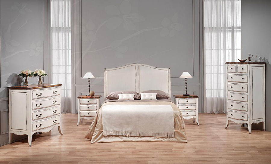 Dormitorio vintage chantal no disponible en for Muebles blancos dormitorio
