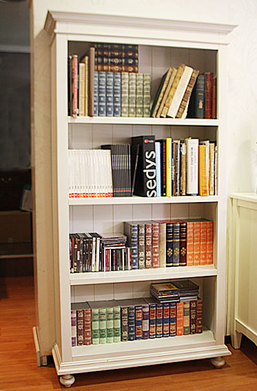 Libreria carlisle blanco roto no disponible en for Mueble libreria