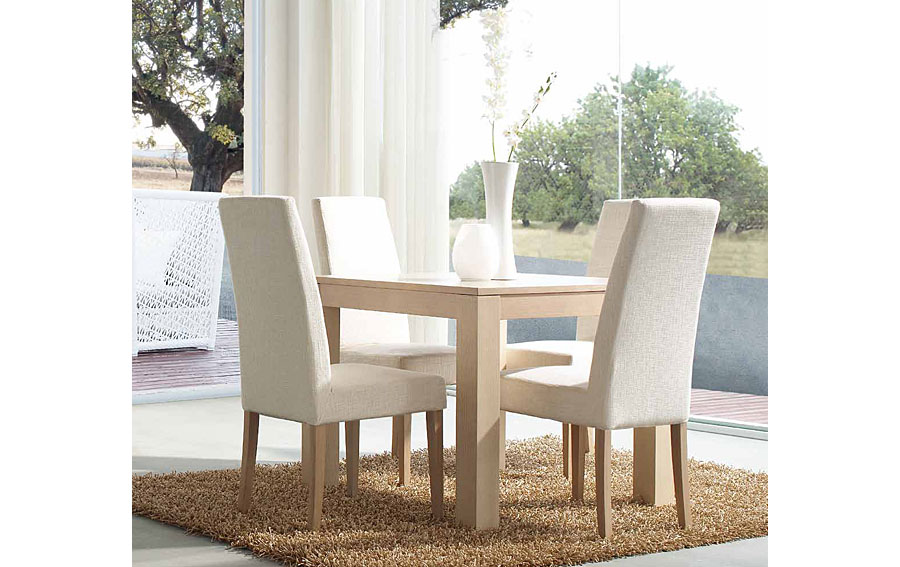 Mesa comedor extensible cuadrada mistral no disponible en for Mesas de comedor blancas extensibles