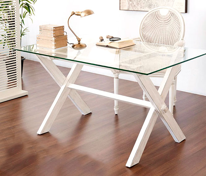 Mesa plegable lacado blanco p tina no disponible en for Muebles de oficina rusticos