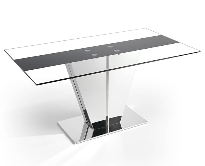 Mesa de comedor nexus cristal templado no disponible en for Cristal para mesa rectangular