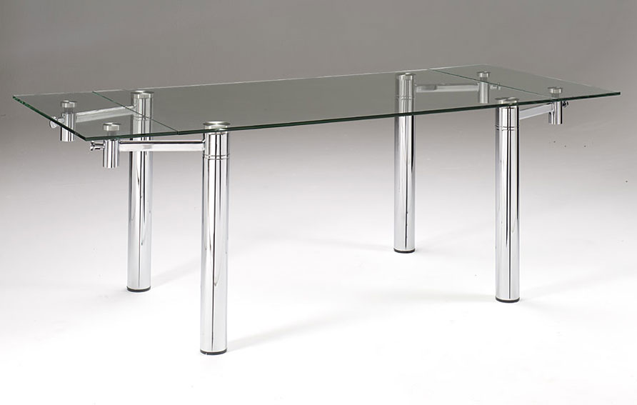 Mesa de comedor extensible andros rectangular no for Cristal para mesa rectangular