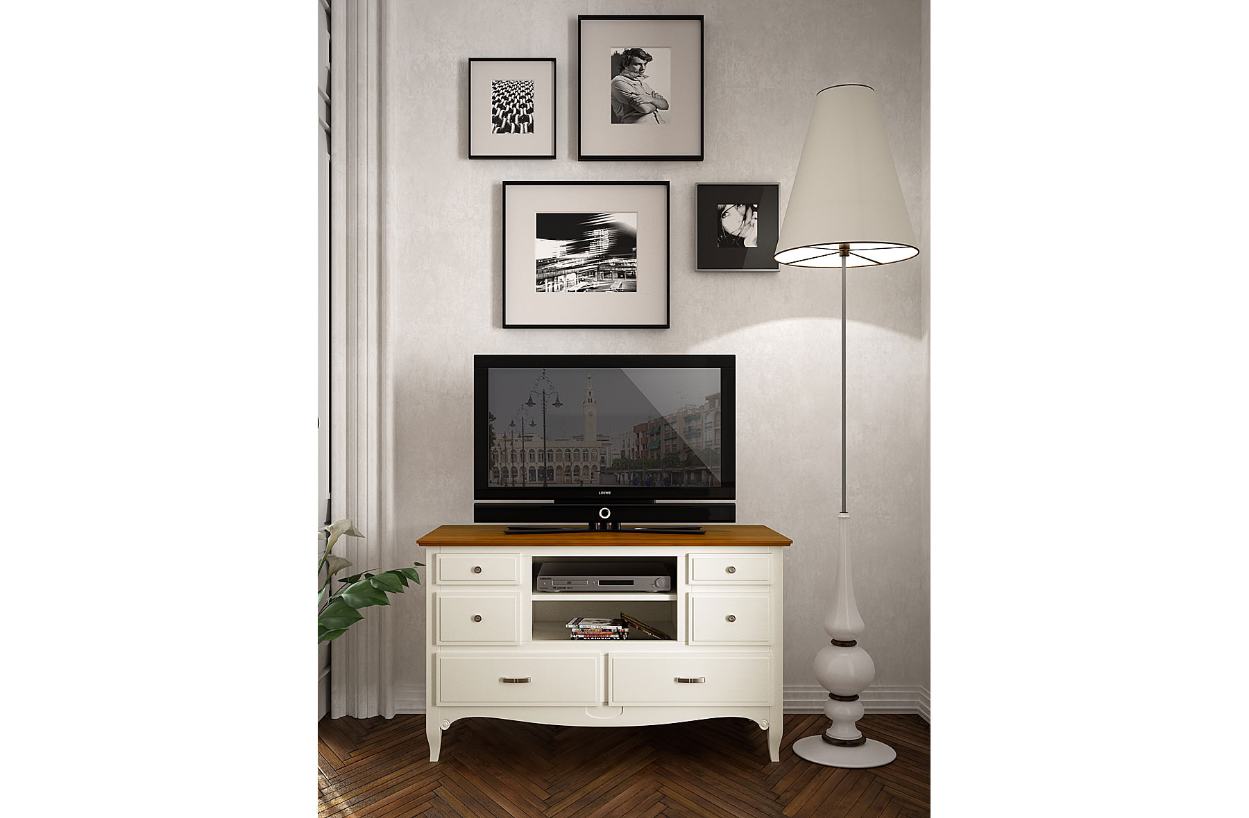 Mueble de Tv colonial Fontana