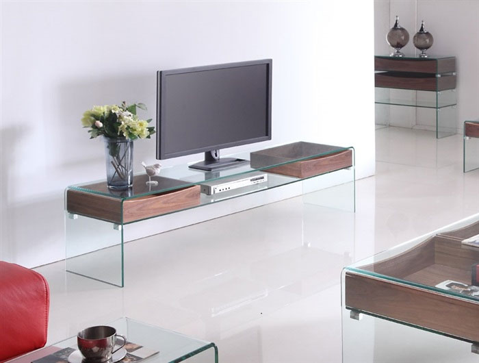 mueble de tv cristal curvado glass no disponible en