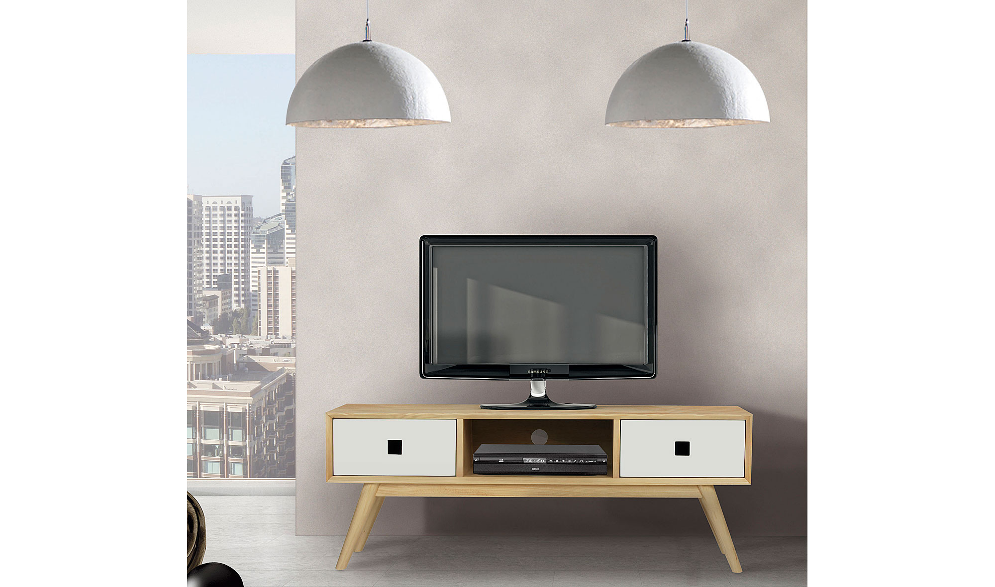 Mueble de tv moderno nordic en for Mueble tv moderno